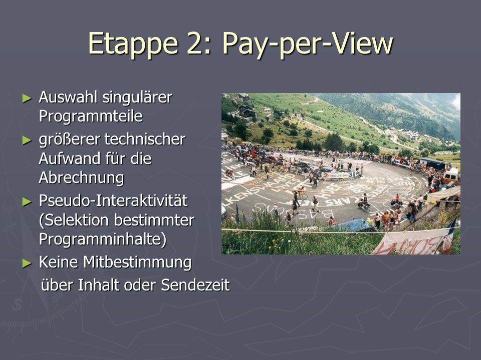 Etappe 2: Pay-per-View Auswahl singulärer Programmteile