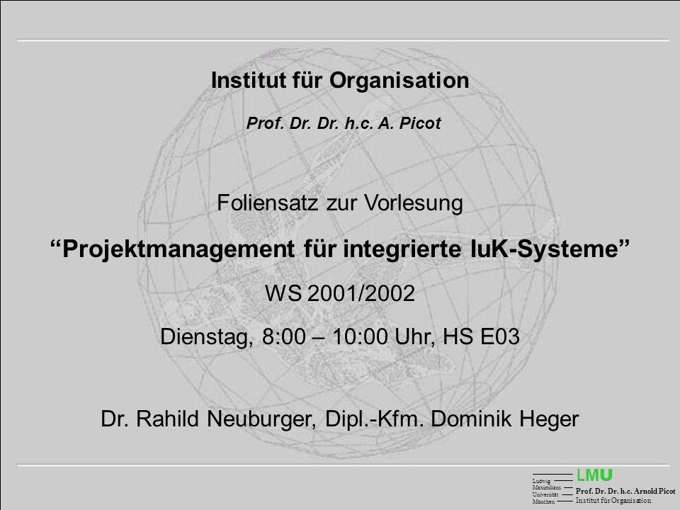 Projektmanagement für integrierte IuK-Systeme
