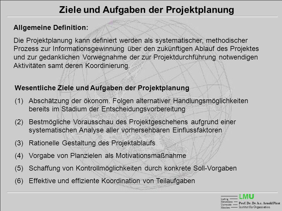 Ziele und Aufgaben der Projektplanung