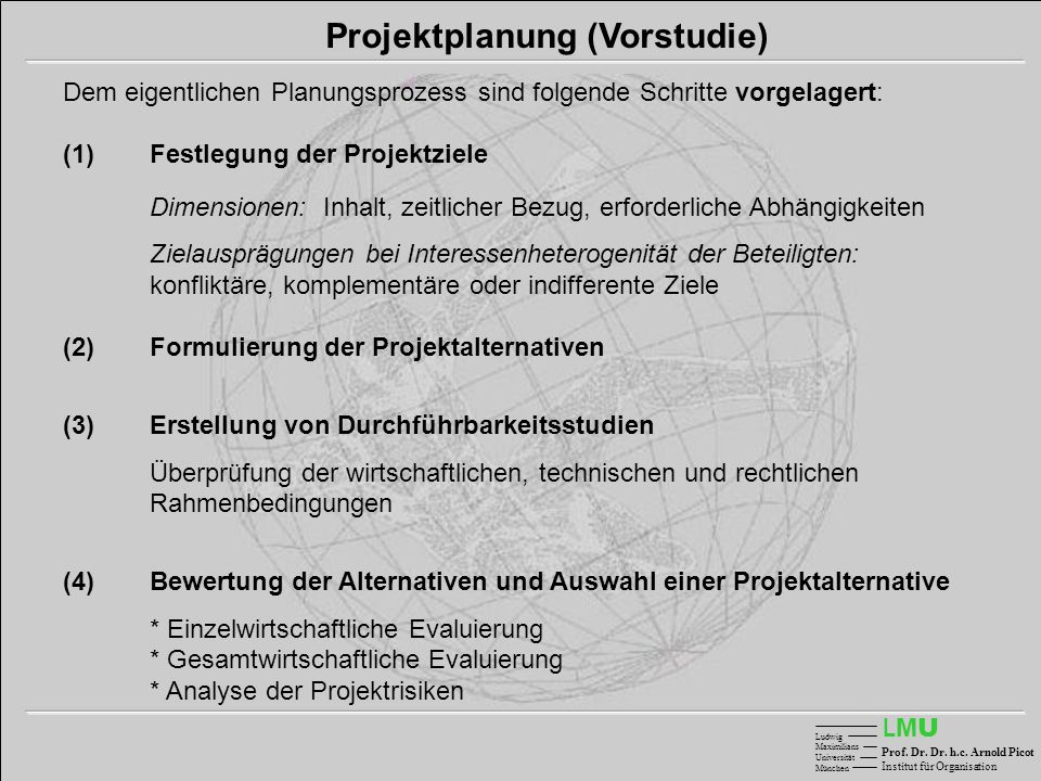 Projektplanung (Vorstudie)