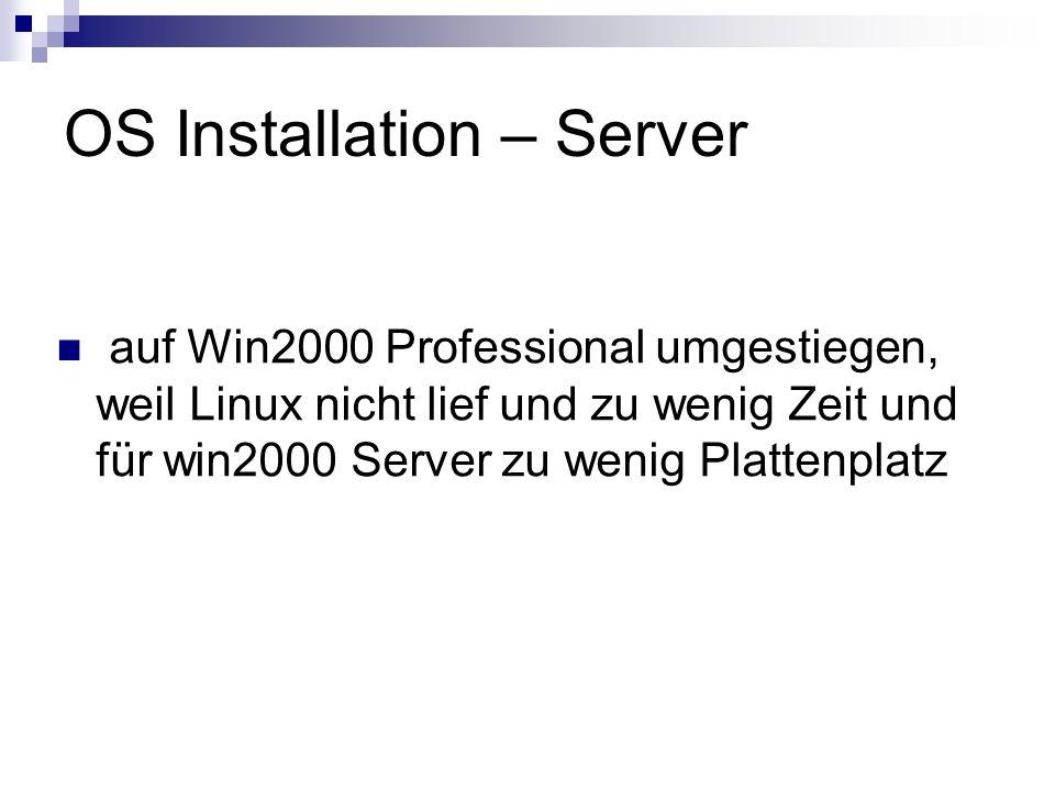 OS Installation – Server