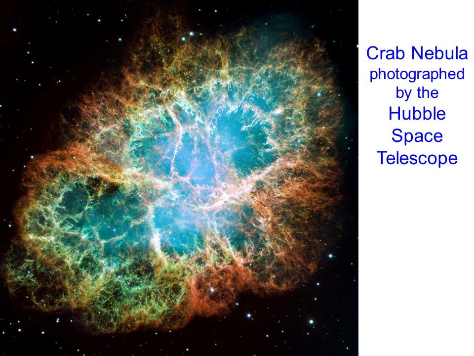 Crab Nebula photographed by the