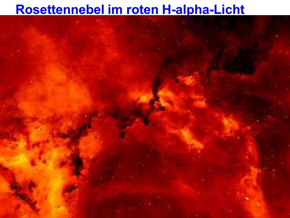 Rosettennebel im roten H-alpha-Licht