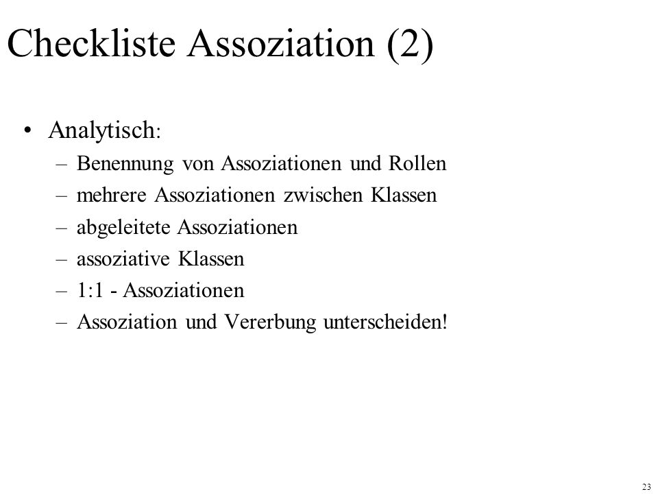 Checkliste Assoziation (2)