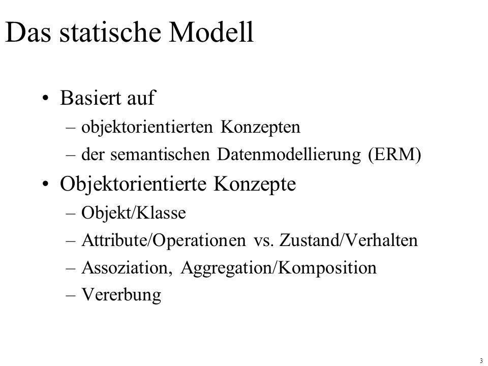Das statische Modell Basiert auf Objektorientierte Konzepte
