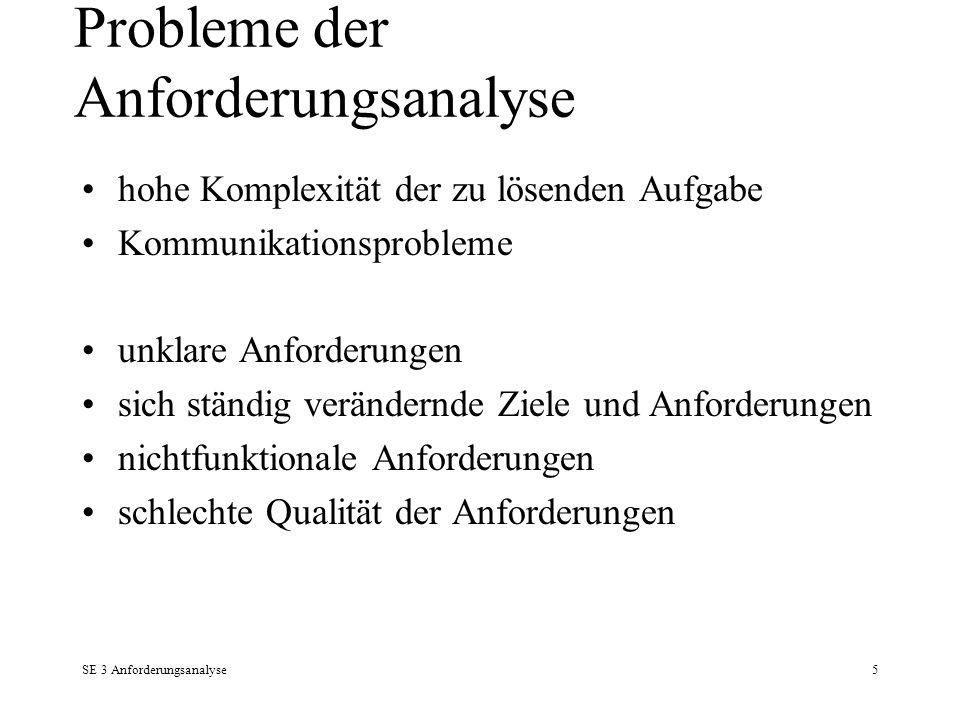 Probleme der Anforderungsanalyse