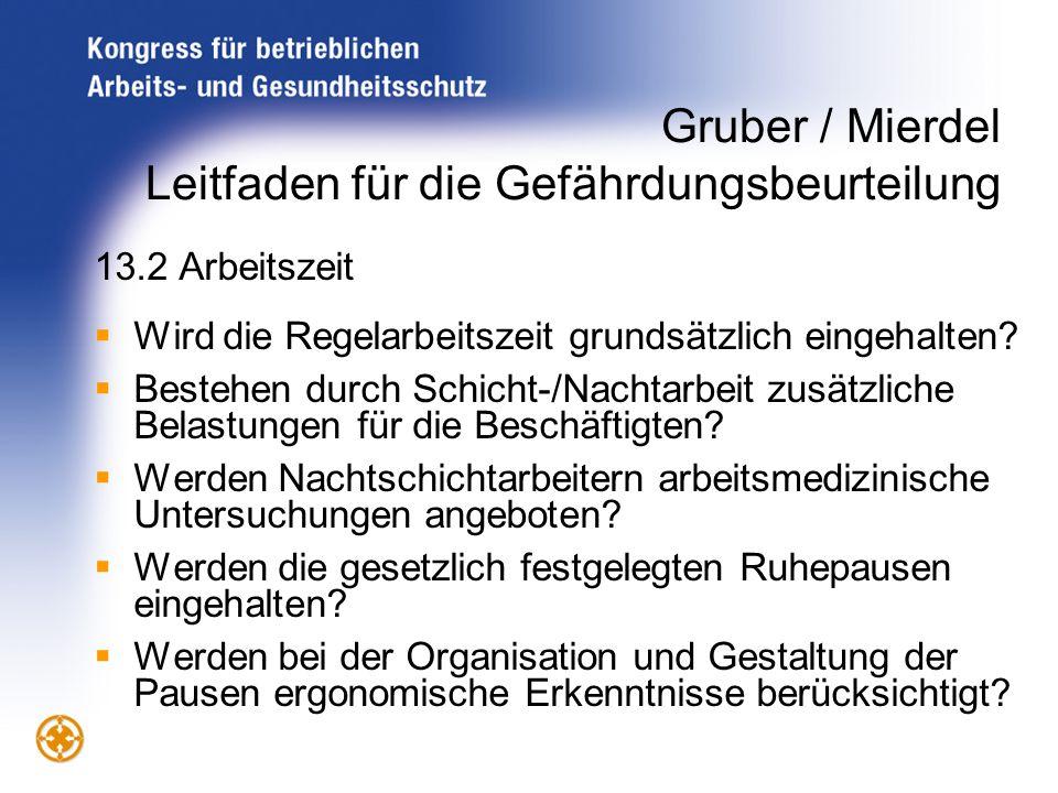 Gruber / Mierdel Leitfaden für die Gefährdungsbeurteilung