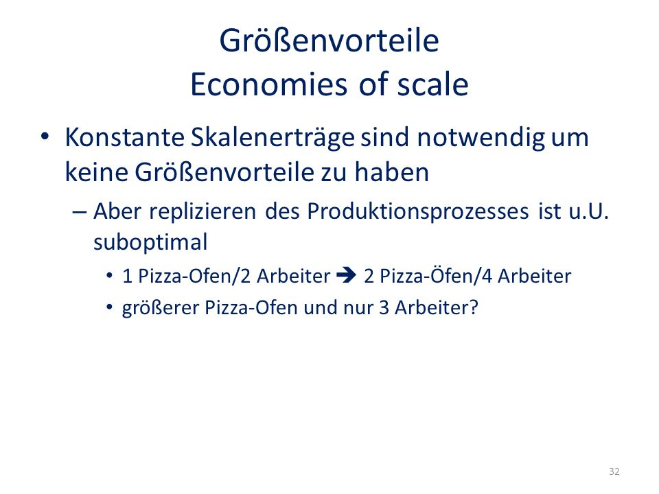 Größenvorteile Economies of scale