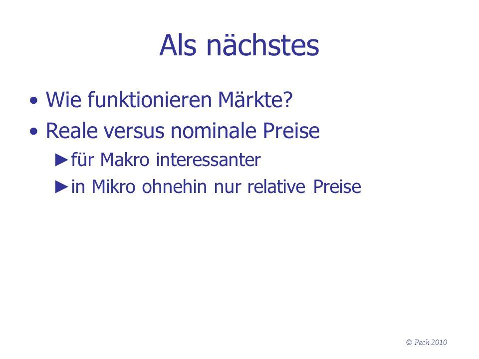 Als nächstes Wie funktionieren Märkte Reale versus nominale Preise