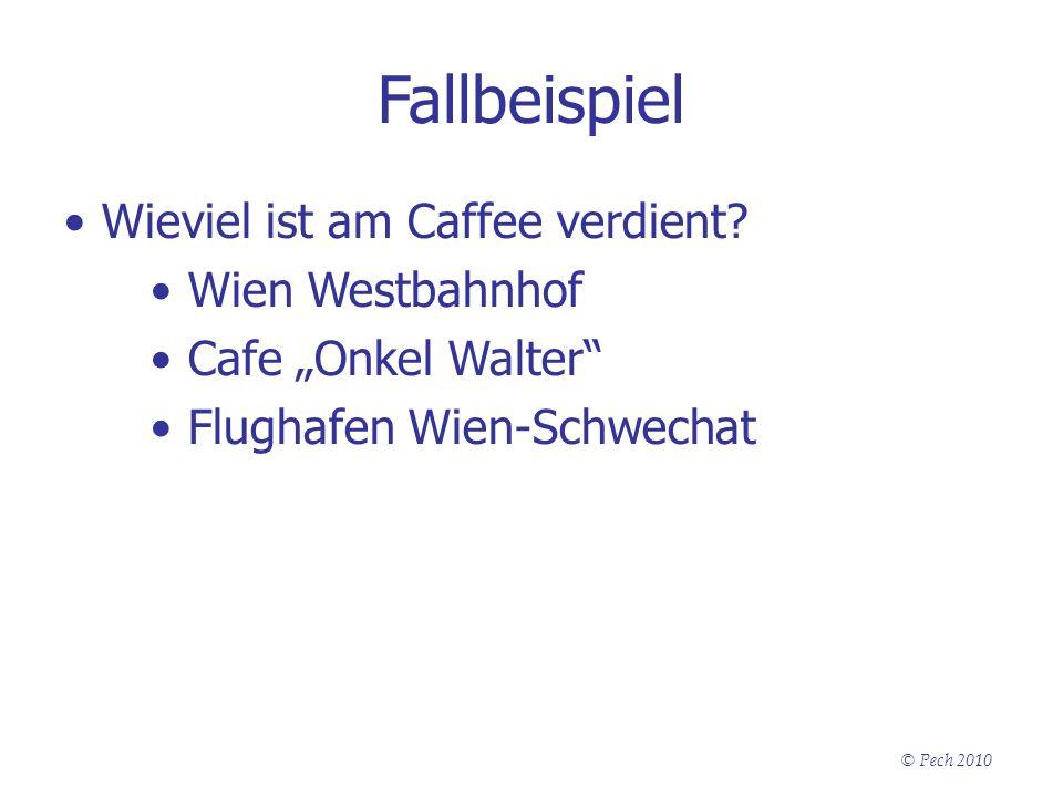 Fallbeispiel Wieviel ist am Caffee verdient Wien Westbahnhof