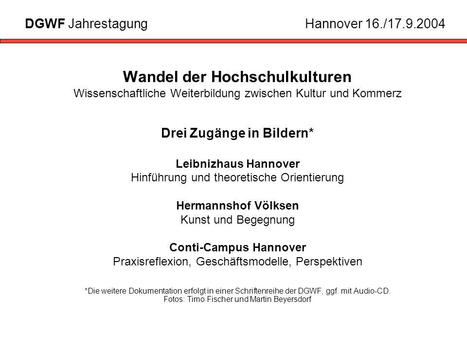 Drei Zugänge in Bildern* Conti-Campus Hannover