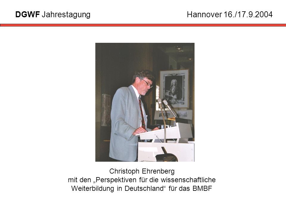 DGWF Jahrestagung Hannover 16./17.9.2004
