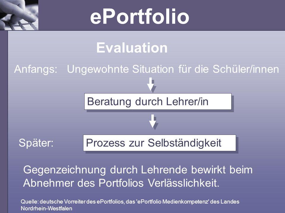Evaluation Anfangs: Ungewohnte Situation für die Schüler/innen
