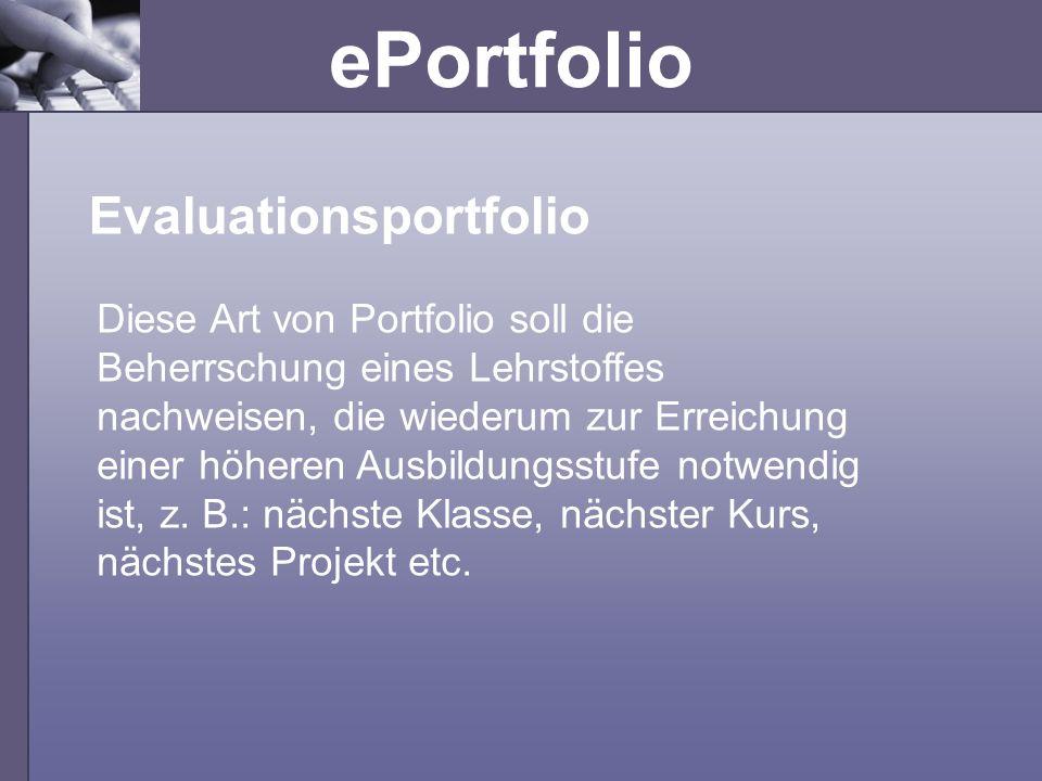 Evaluationsportfolio