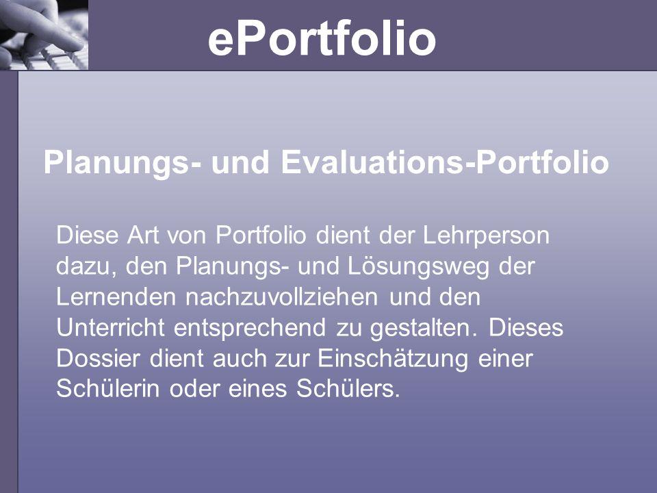 Planungs- und Evaluations-Portfolio