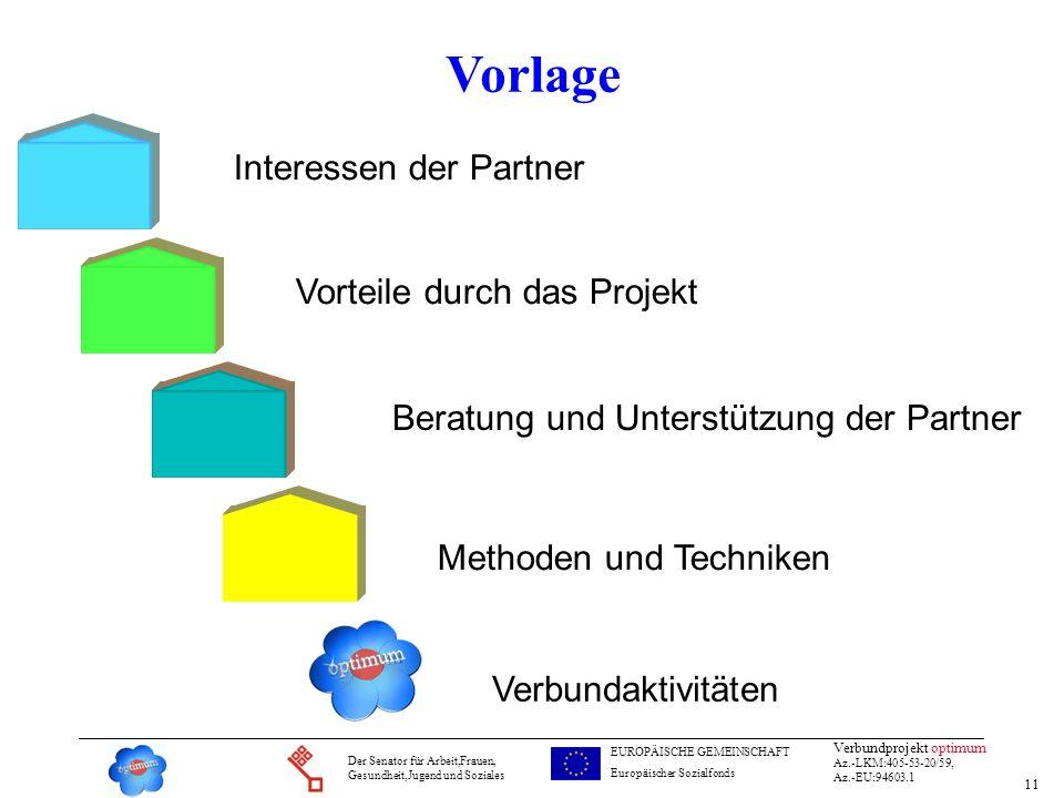 Vorlage Interessen der Partner Vorteile durch das Projekt