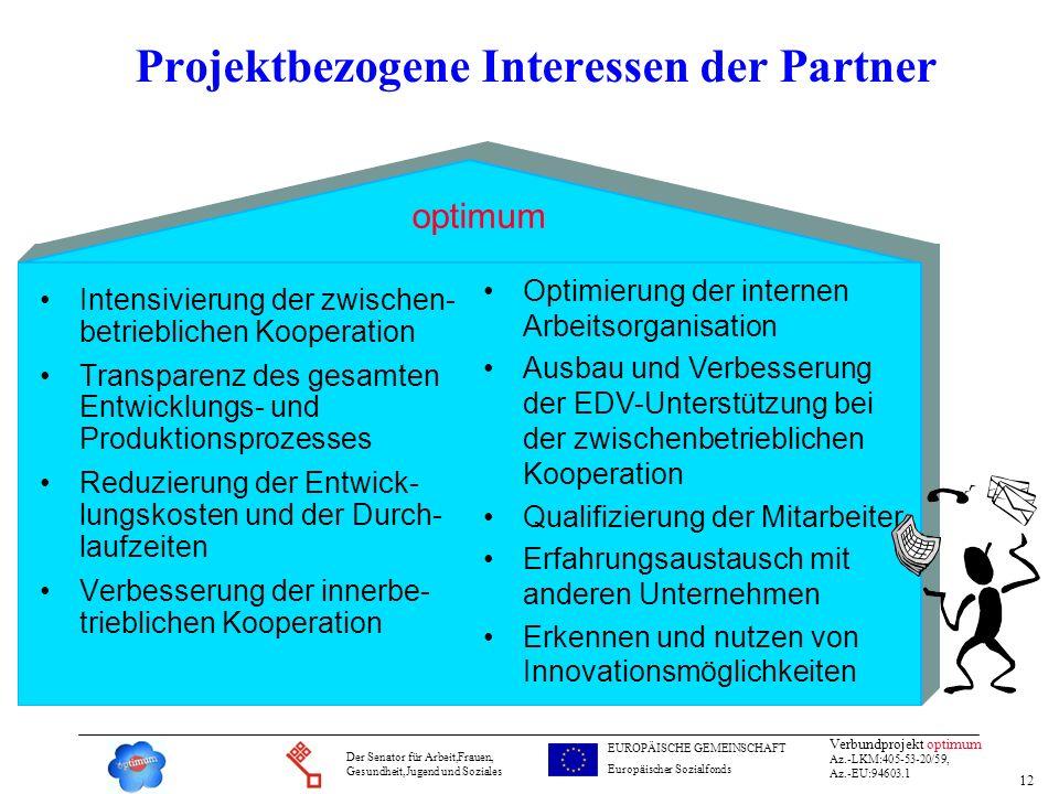 Projektbezogene Interessen der Partner