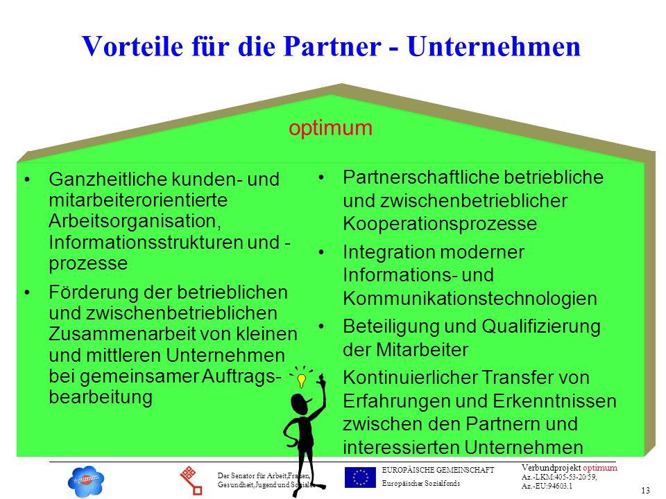 Vorteile für die Partner - Unternehmen