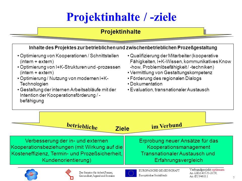 Projektinhalte / -ziele