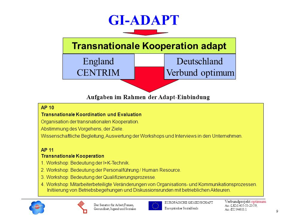 Transnationale Kooperation adapt