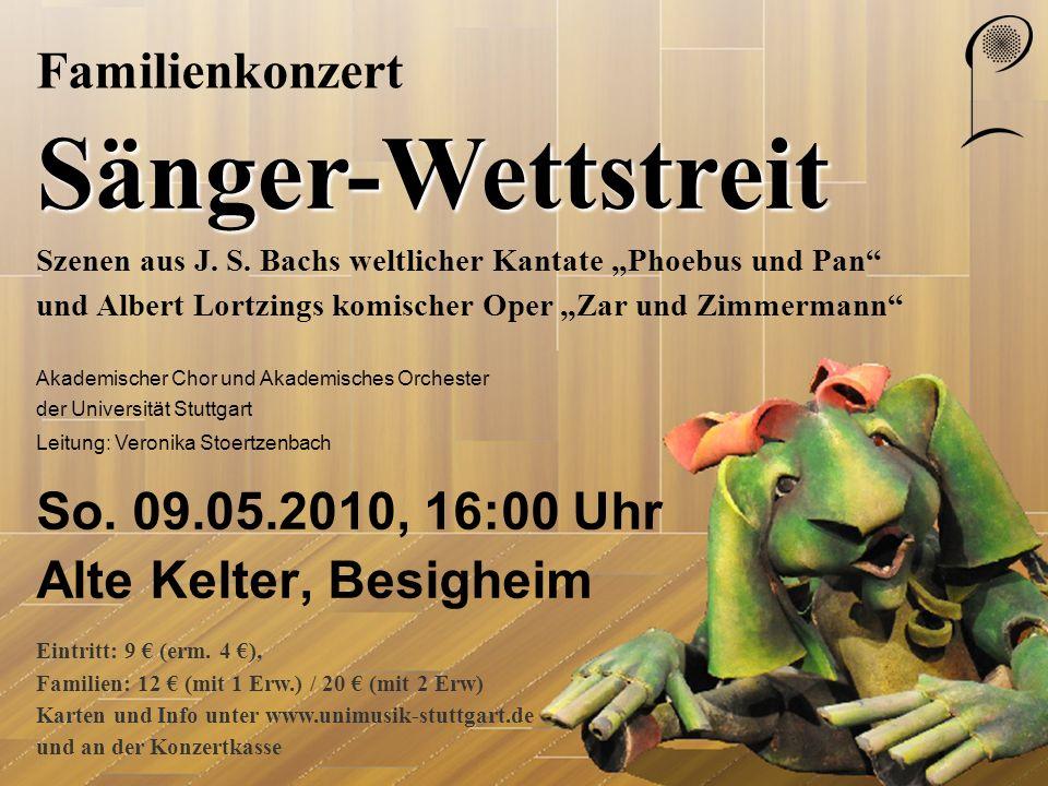 So. 09.05.2010, 16:00 Uhr Alte Kelter, Besigheim