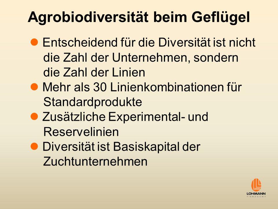 Agrobiodiversität beim Geflügel