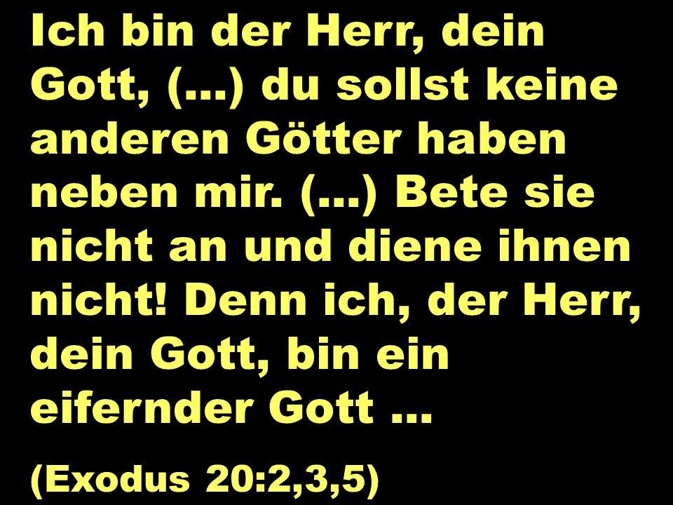 Ich bin der Herr, dein Gott, (