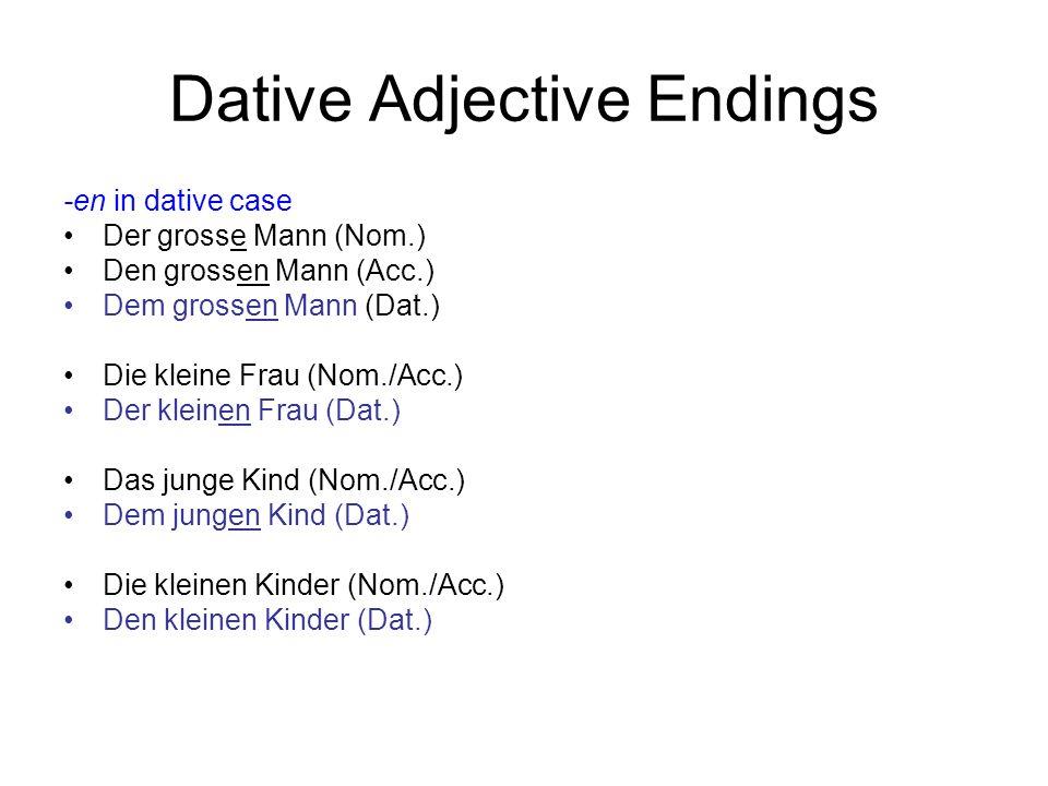 Dative Adjective Endings