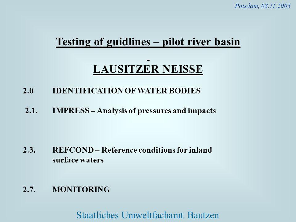 Testing of guidlines – pilot river basin