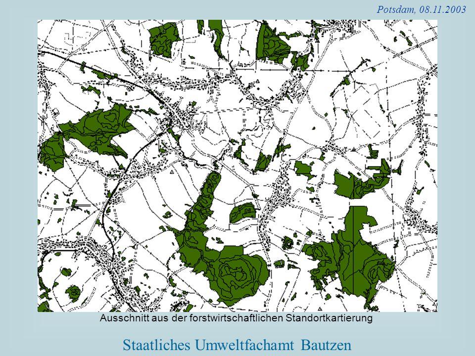 Potsdam, 08.11.2003 Ausschnitt aus der forstwirtschaftlichen Standortkartierung
