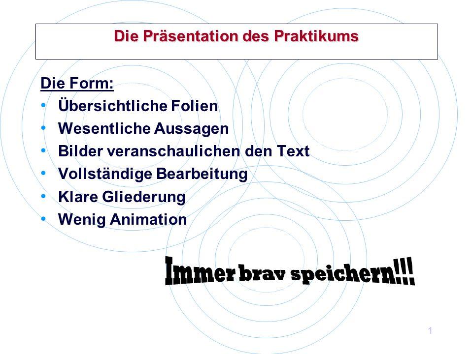 Die Prasentation Des Praktikums Ppt Video Online Herunterladen