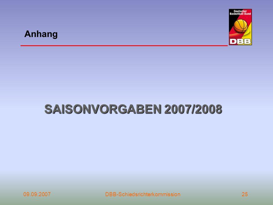 SAISONVORGABEN 2007/2008 Anhang