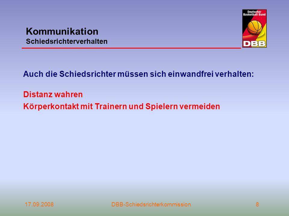 Kommunikation Schiedsrichterverhalten