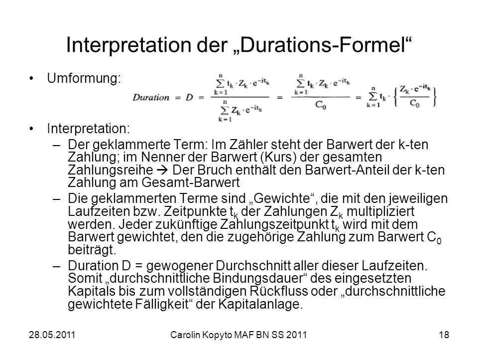 "Interpretation der ""Durations-Formel"