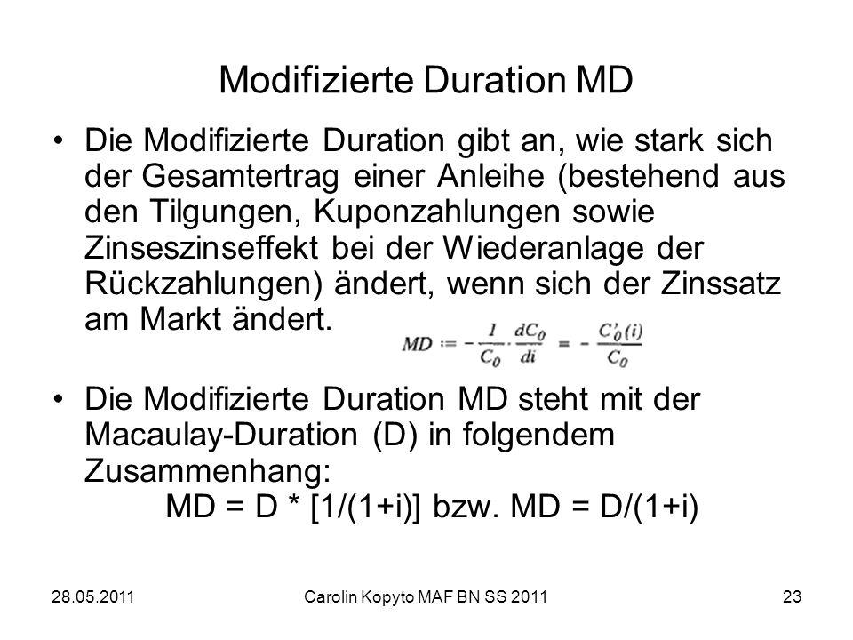 Modifizierte Duration MD