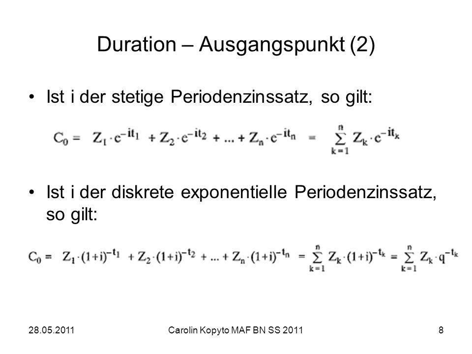 Duration – Ausgangspunkt (2)