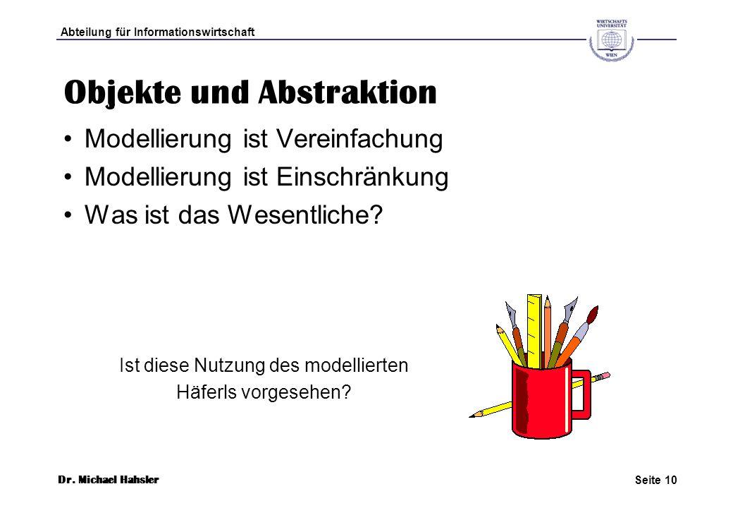 Objekte und Abstraktion