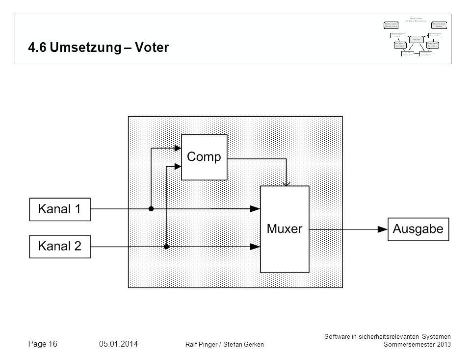 4.6 Umsetzung – Voter Comp: Vergleicher