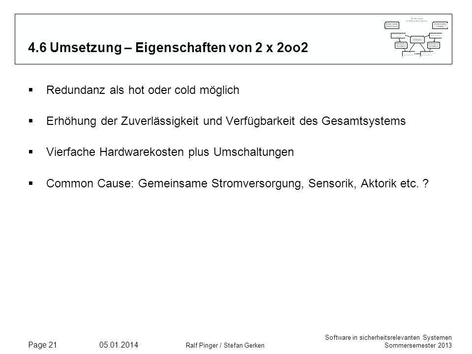 4.6 Umsetzung – Eigenschaften von 2 x 2oo2