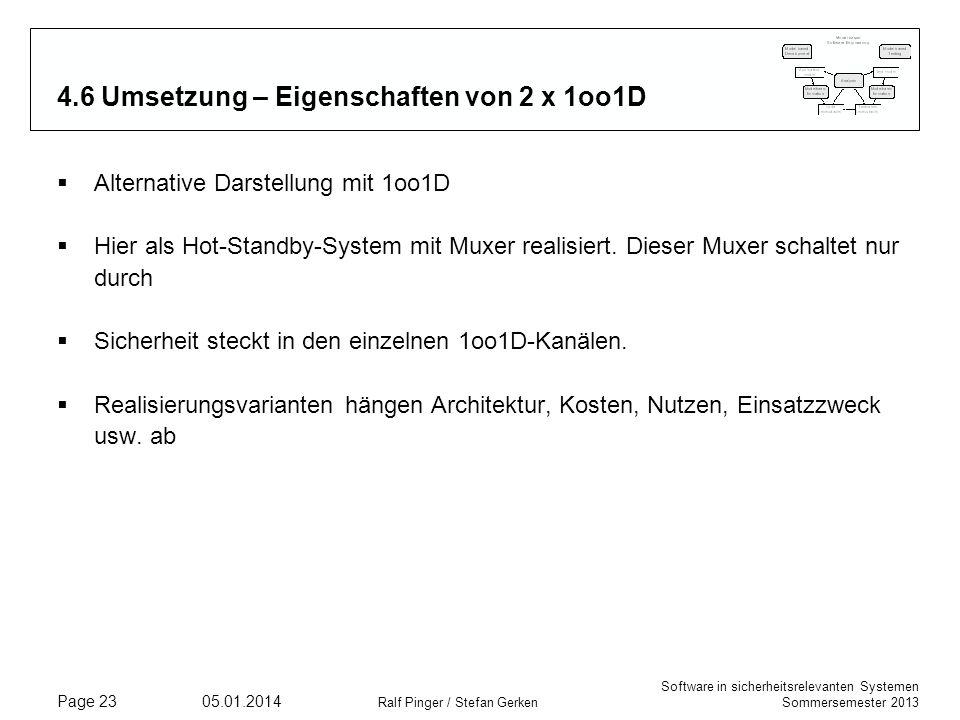 4.6 Umsetzung – Eigenschaften von 2 x 1oo1D