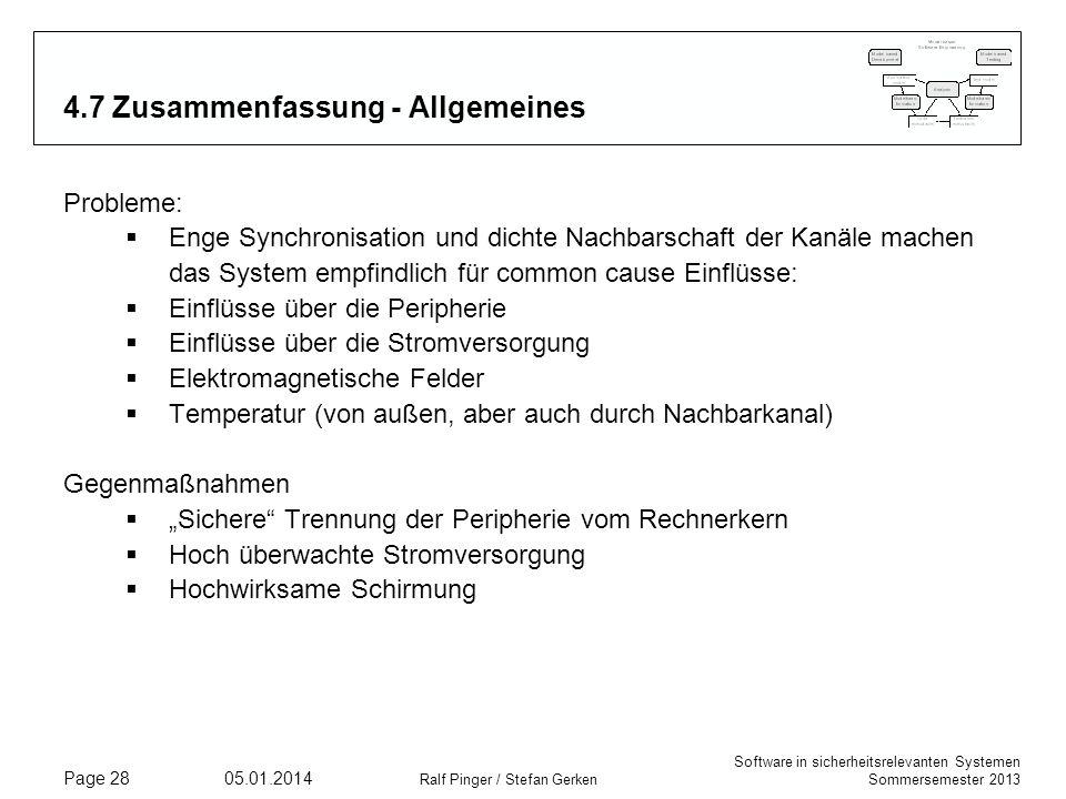 4.7 Zusammenfassung - Allgemeines