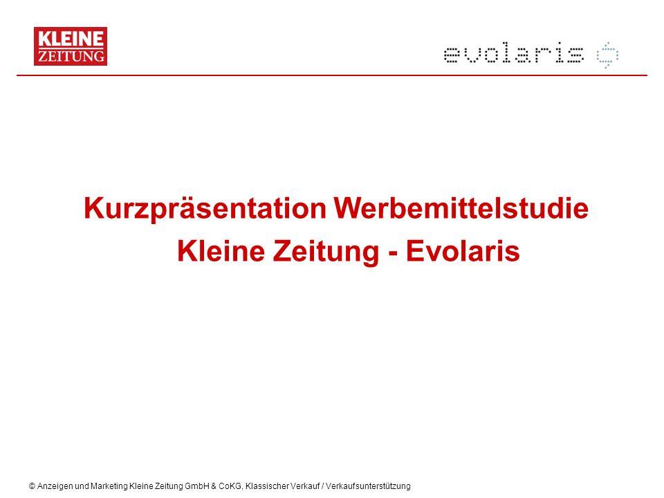 Kurzpräsentation Werbemittelstudie Kleine Zeitung - Evolaris