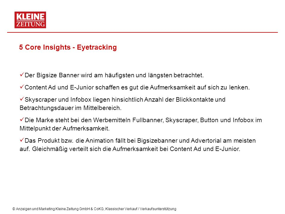 5 Core Insights - Eyetracking