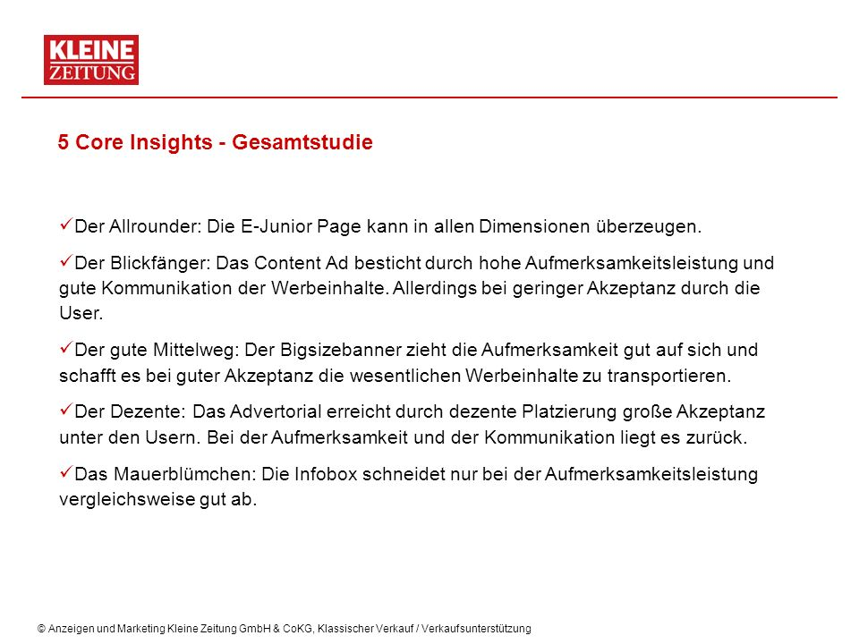5 Core Insights - Gesamtstudie
