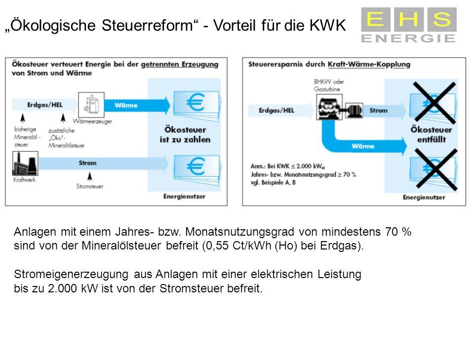 """""""Ökologische Steuerreform - Vorteil für die KWK"""
