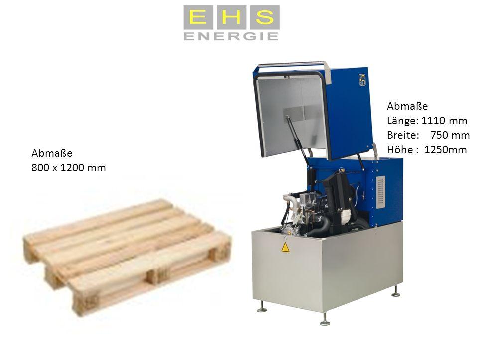 Abmaße Länge: 1110 mm Breite: 750 mm Höhe : 1250mm Abmaße 800 x 1200 mm
