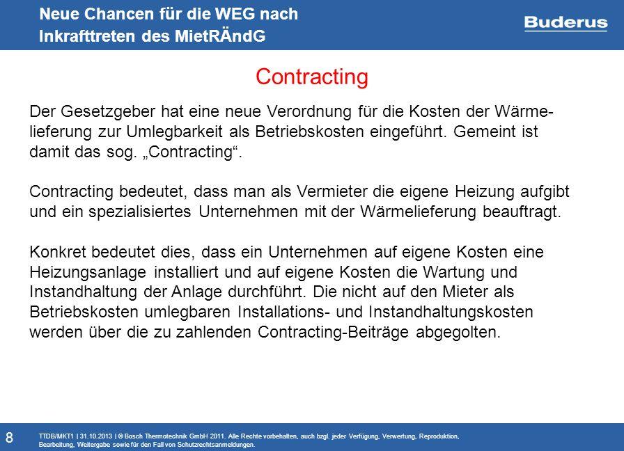 Contracting Neue Chancen für die WEG nach Inkrafttreten des MietRÄndG