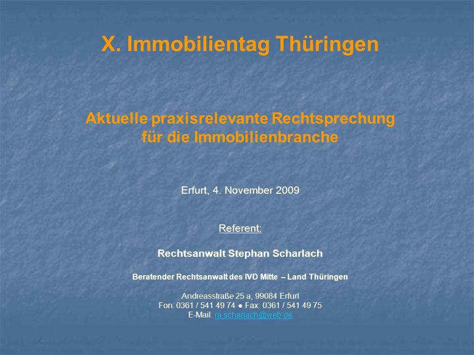X. Immobilientag Thüringen