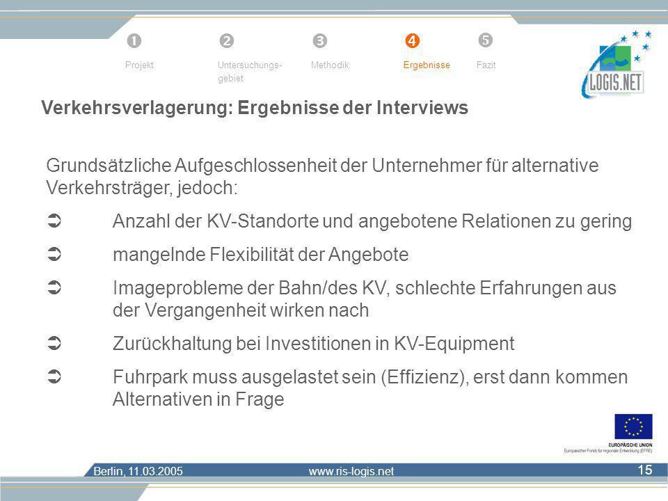      Verkehrsverlagerung: Ergebnisse der Interviews