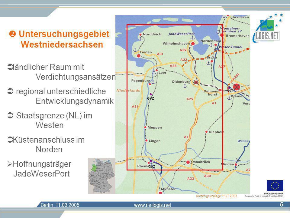  Untersuchungsgebiet Westniedersachsen